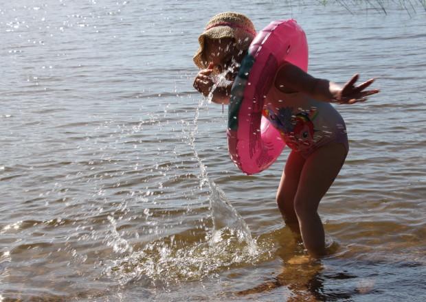 Veden roiskutusta
