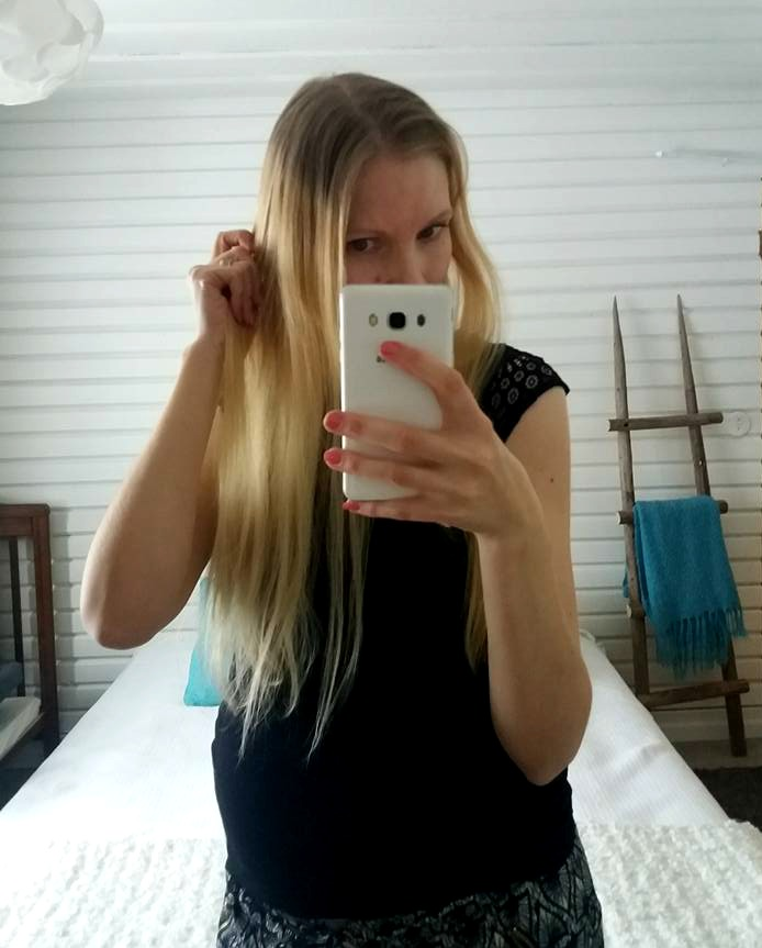 hiusten värjääminen