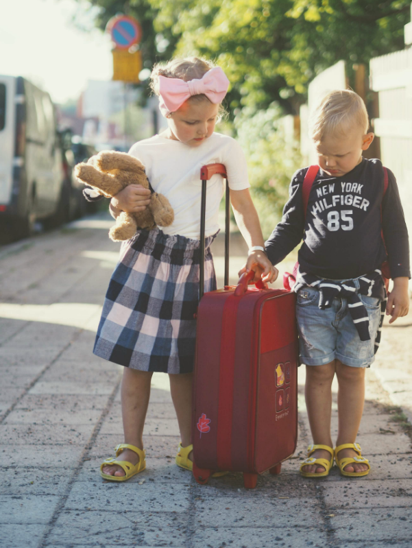 matkustus lasten kanssa