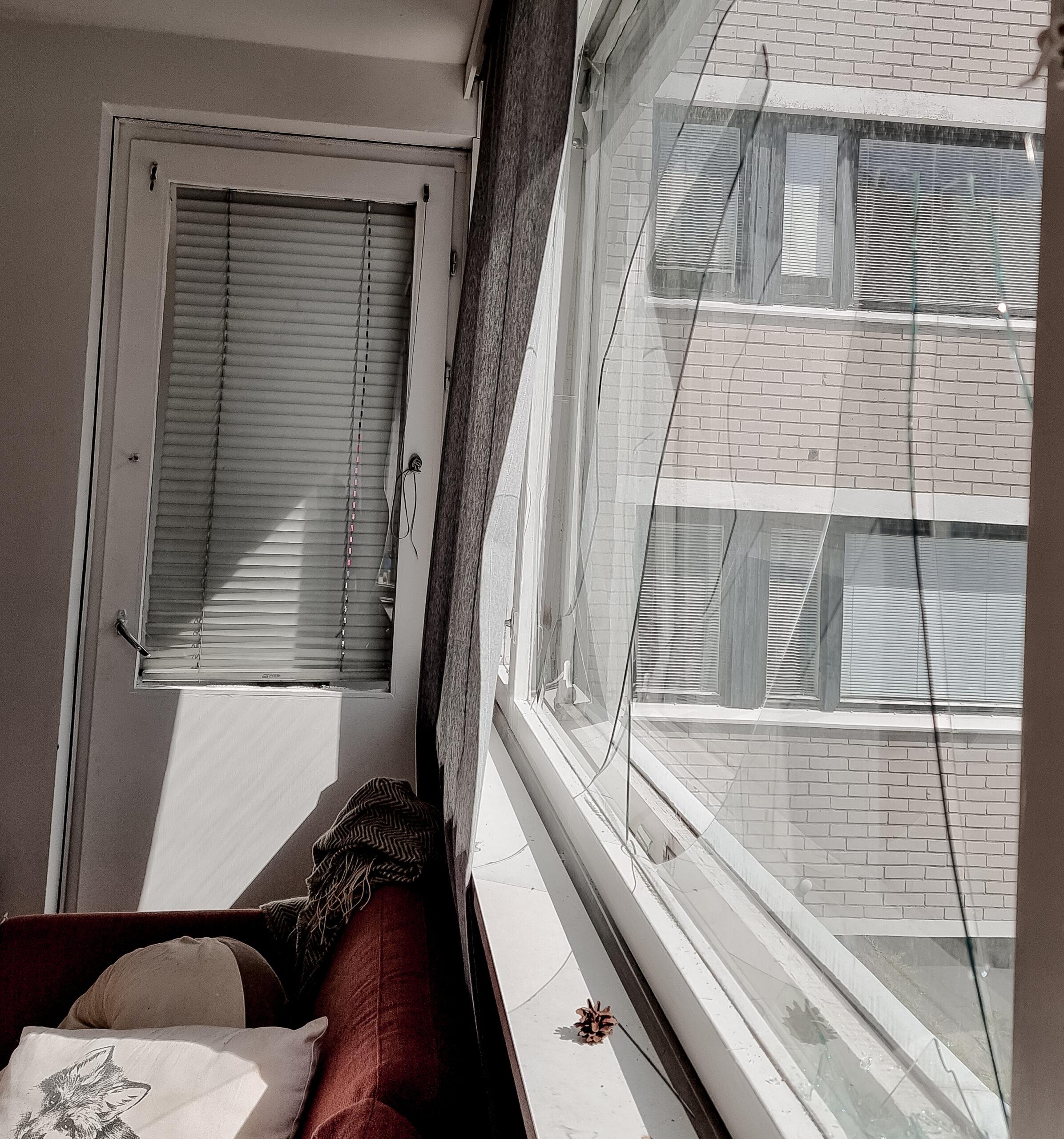 Ikkunalasi pirstoutui