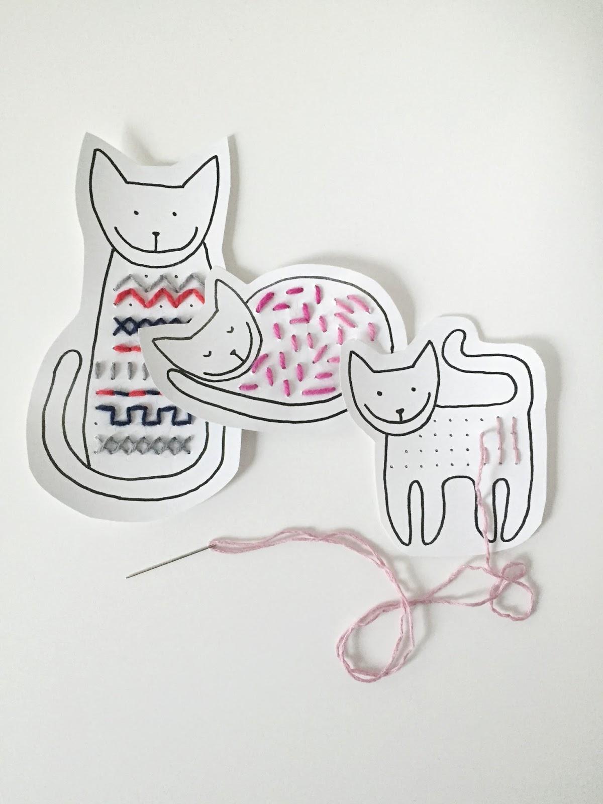 Kissa-ompelukuvat