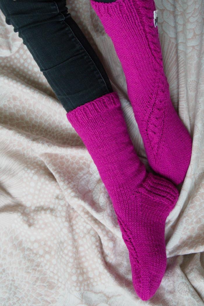 Pinkit villasukat