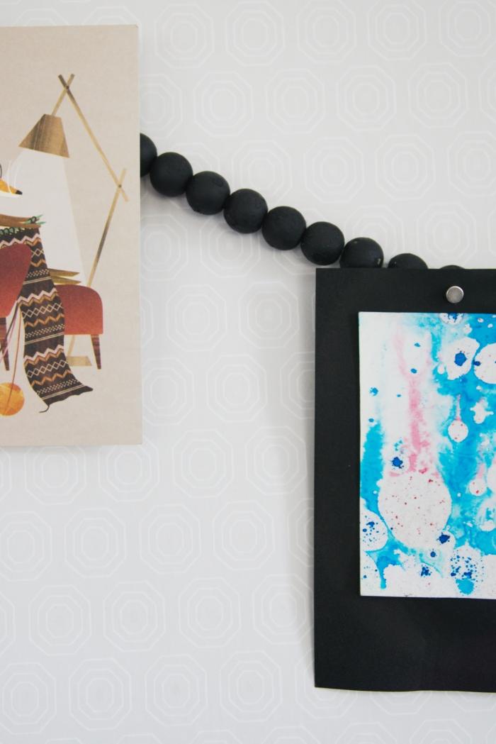 magneettispraylla maalattu helminauha