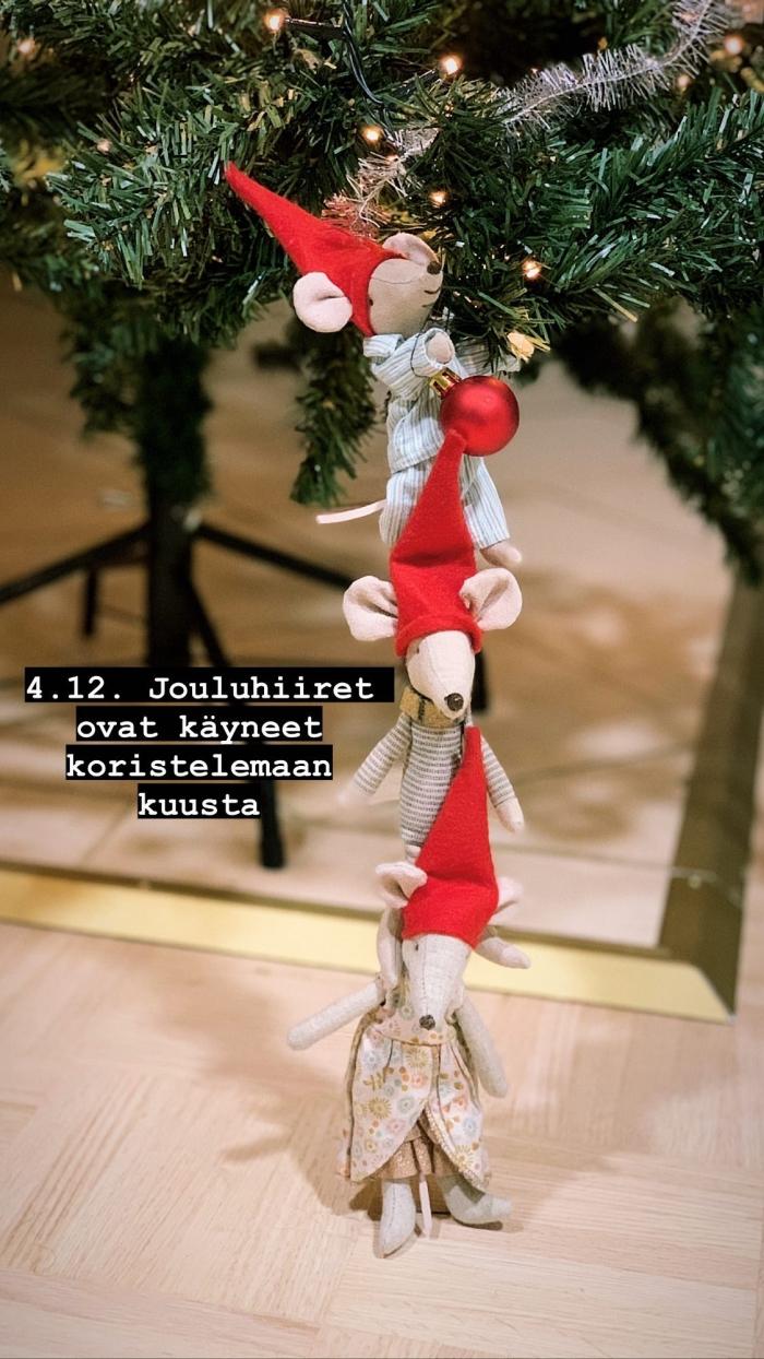 joulukalenteri jouluhiiret sormustin