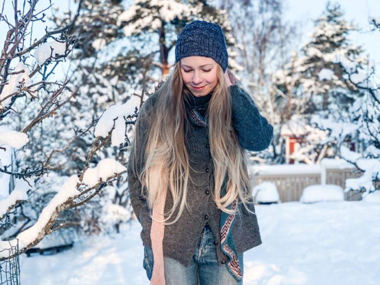 hiukset talvi