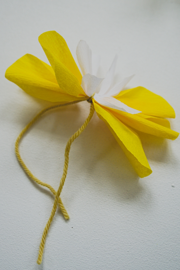 kreppipaperi kukka ohje