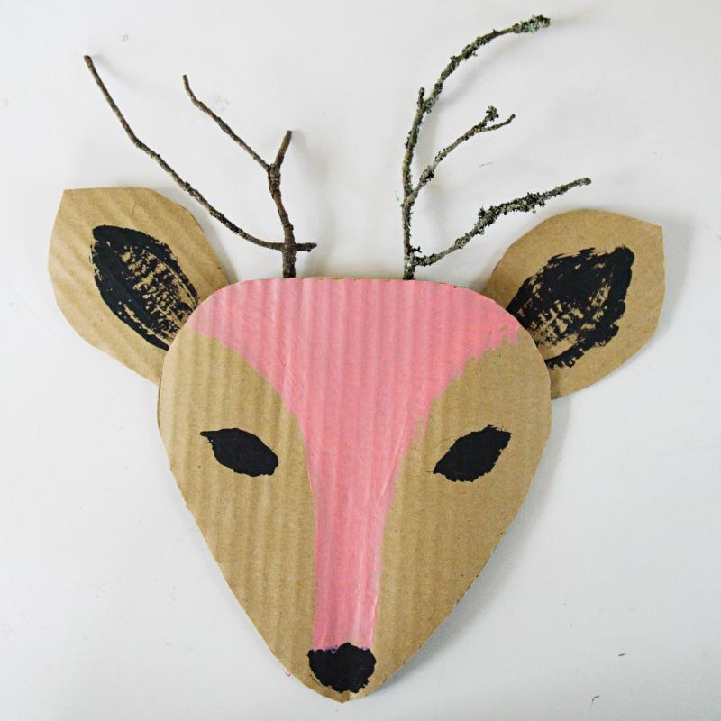 bambi kauris askartelu pahvi