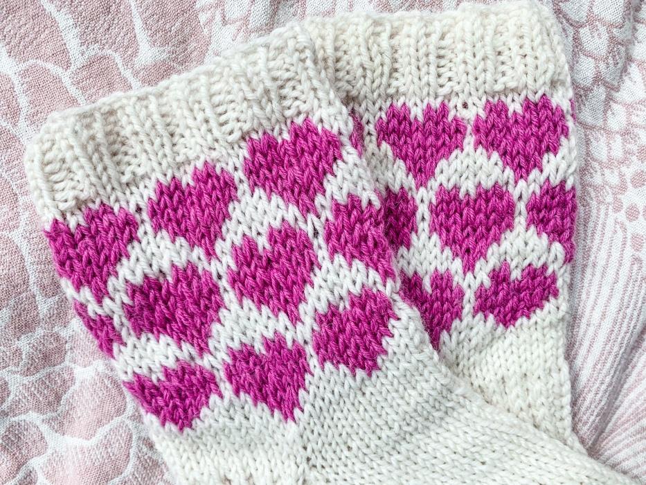 sydän kirjoneule kaavio heart knittin chart