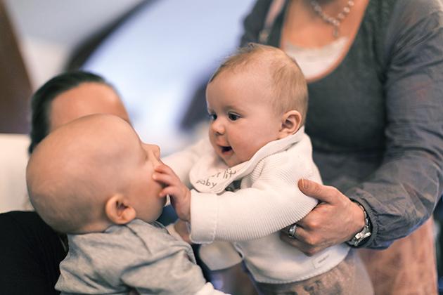 Kutsuilla oli tunnelmaa luomassa myös pari pienokaista <3