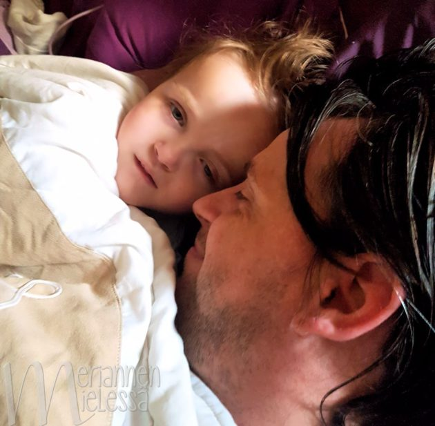Special nap time cuddles with Daddy!
