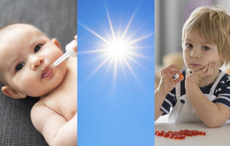 D-vitamiinin lähteitä ovat aurinko, kalat ja vitaminoidut meijerituotteet, mutta lapsilla erityisesti lisät.