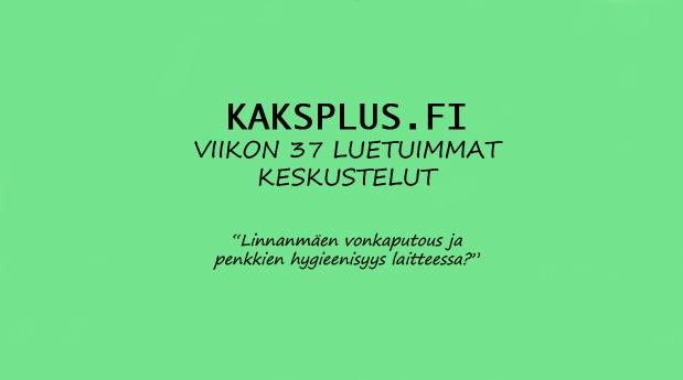 Kaksplus.fi: Viikon 37 luetuimmat keskustelut