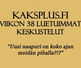 Kaksplus.fi: Viikon 38 luetuimmat keskustelut
