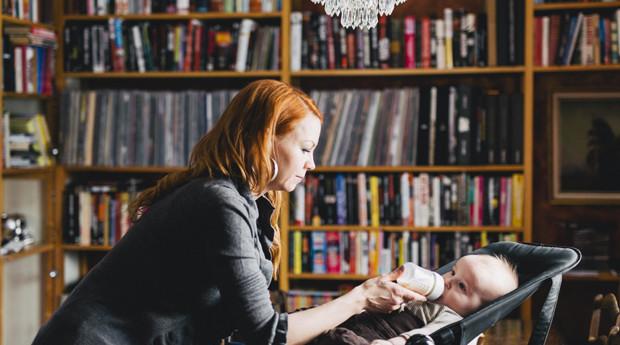 Heta Hyttinen ja Edvin-vauva