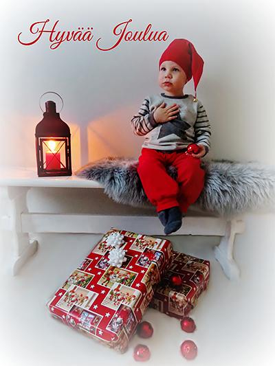 Hugo 1v 9kk toivottaa sydämellistä Joulua kaikille! Iina Jäähelmi