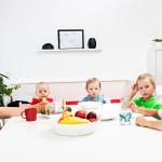 Nina ja puolet lapsista: Eikka, Maija, Jaakko ja Veikko.