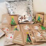 Miss Mutsi -blogin Julia ja Hugo askartelivat joulukortteja.