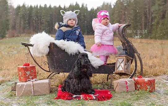 Veetin, Neelan ja Unin joulukorttikuva, Emmi Joensuu