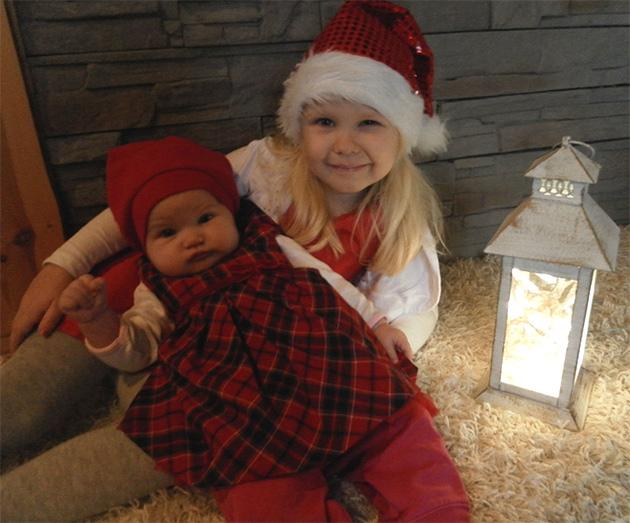 Ensimmäinen joulu isosiskona ja pikkusiskona <3