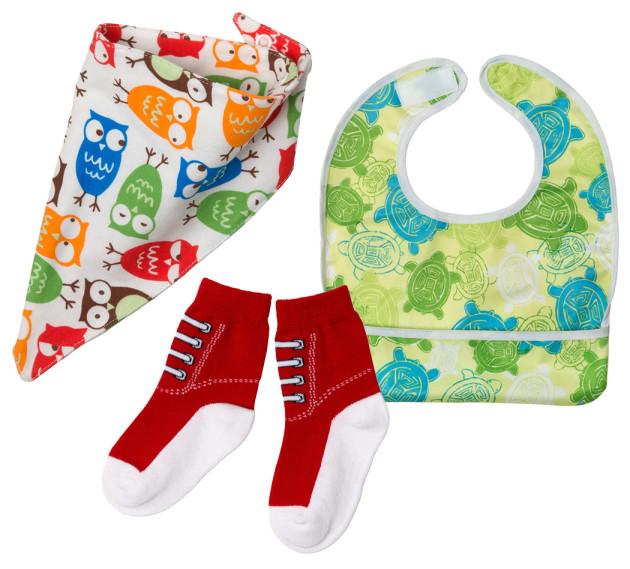 Äitiyspakkaus 2016: Kuolalappu, ruokalappu ja hauskat sukat