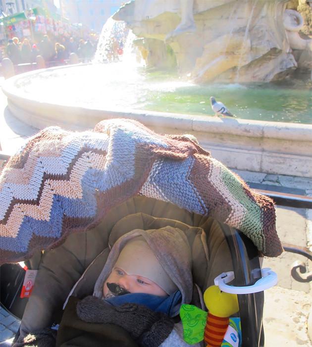 Vauvan kanssa Roomassa