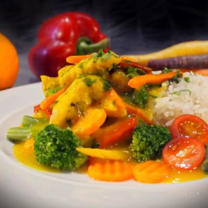 Helppo ja nopea curry-appelsiinikana