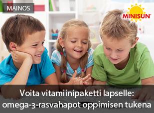 Testaa lapsesi ruokavalio!
