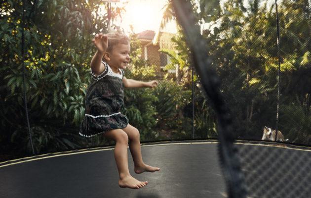 Trampoliini on suosiossa etenkin lapsiperheillä.