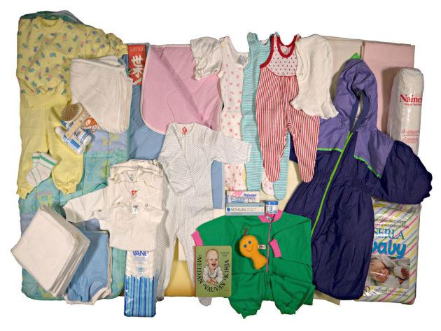 Äitiyspakkaus 1990.