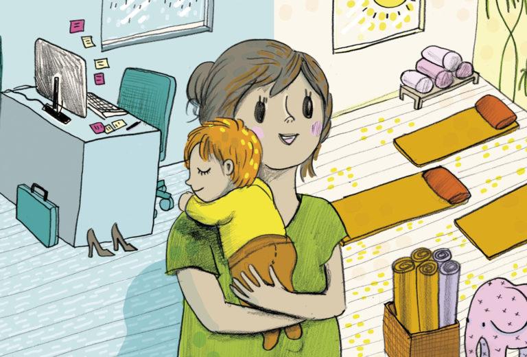 Uranvaihto voi siintää äitiysloman aikana mielessä houkuttelevana vaihtoehtona.