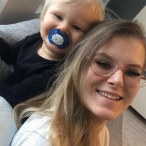Kahden pienen pojan äiti Jenna, 20, Tampere