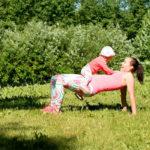 Lapsen kanssa treenaaminen on tehokasta ja mukavaa.