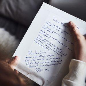 Isän kirje vankilasta pienelle tyttärelle.