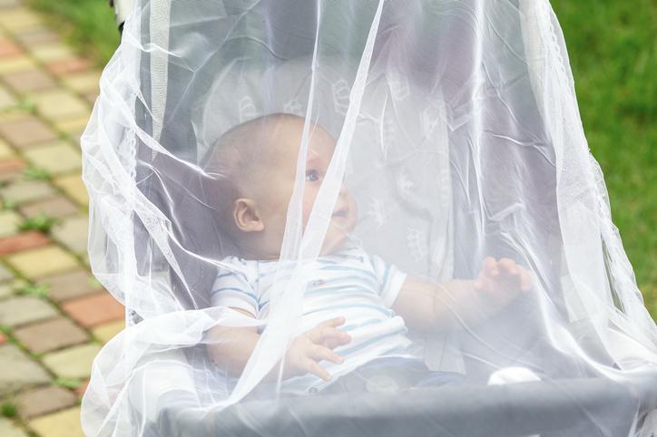 Vauva ja hyttysverkko