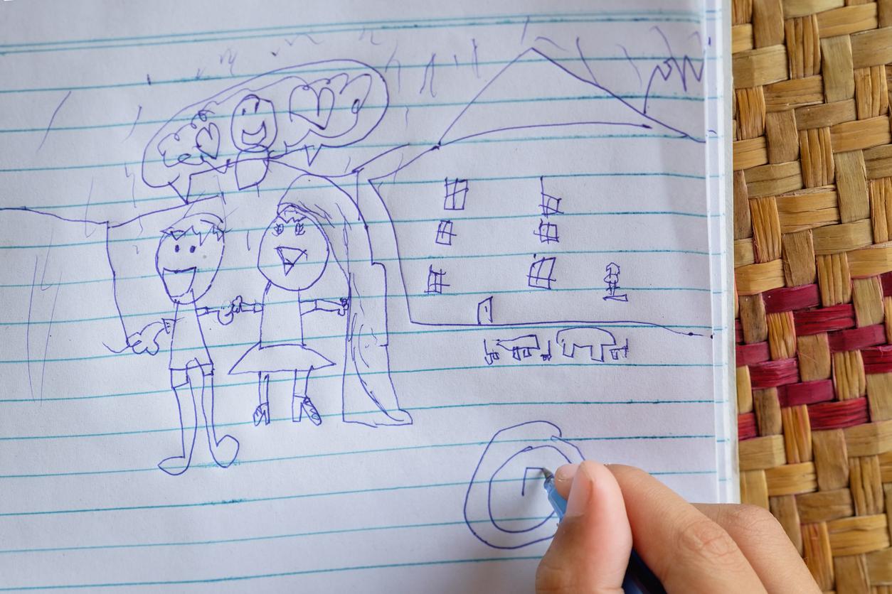Mielikuvitus lentää, kun paperille hahmotetut ihmiset käyvät puhekuplakeskustelua.