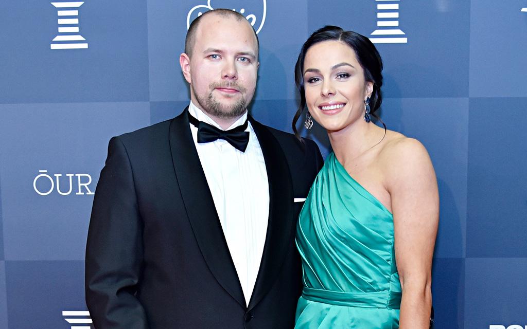 Maria Huntington ja hänen puolisonsa Riku Dufva osallistuivat tammikuussa Urheilugaalaan, jossa Maria oli ehdolla Läpimurto-kategoriassa.