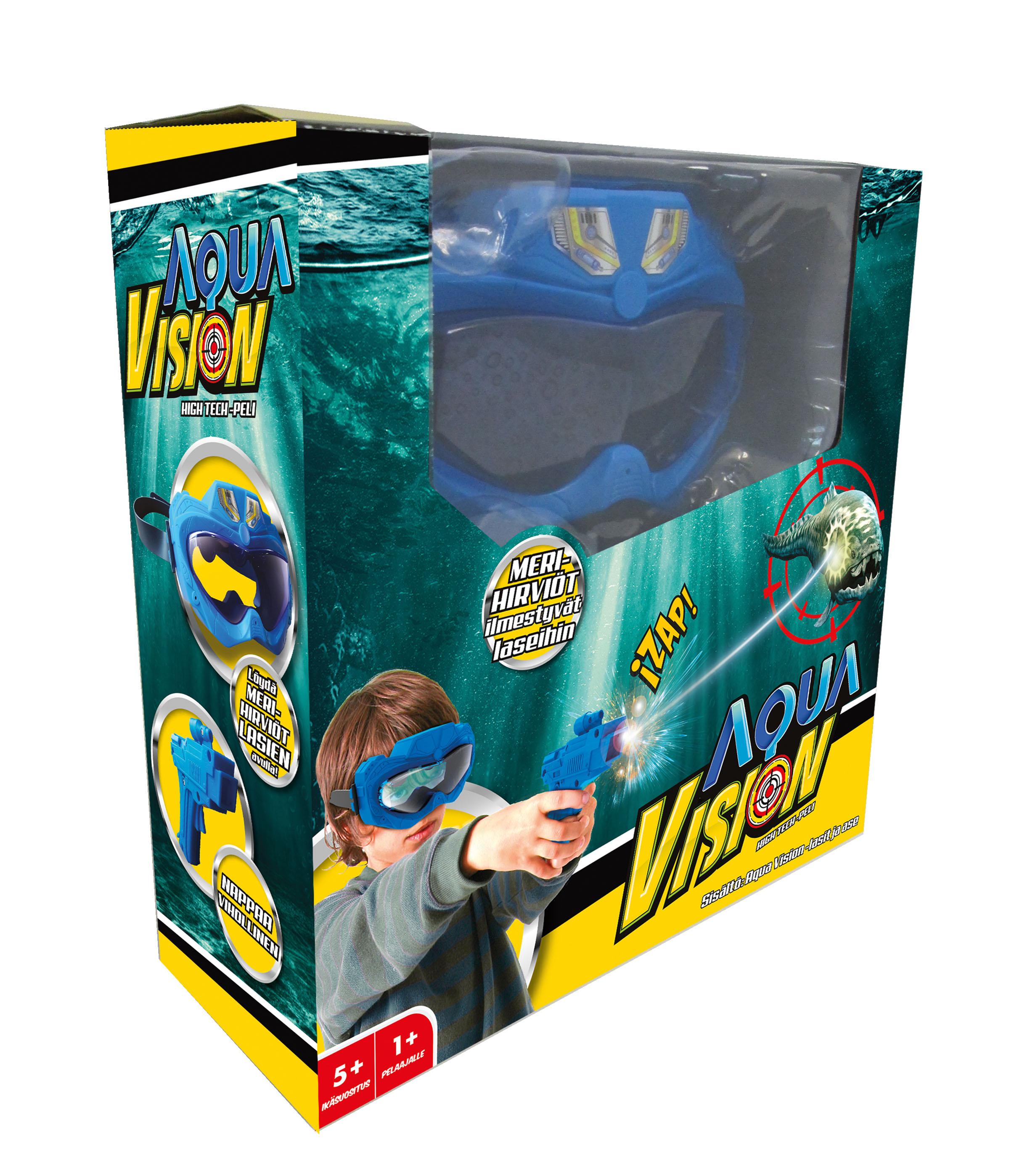Aqua Vision -lasit ja ase.