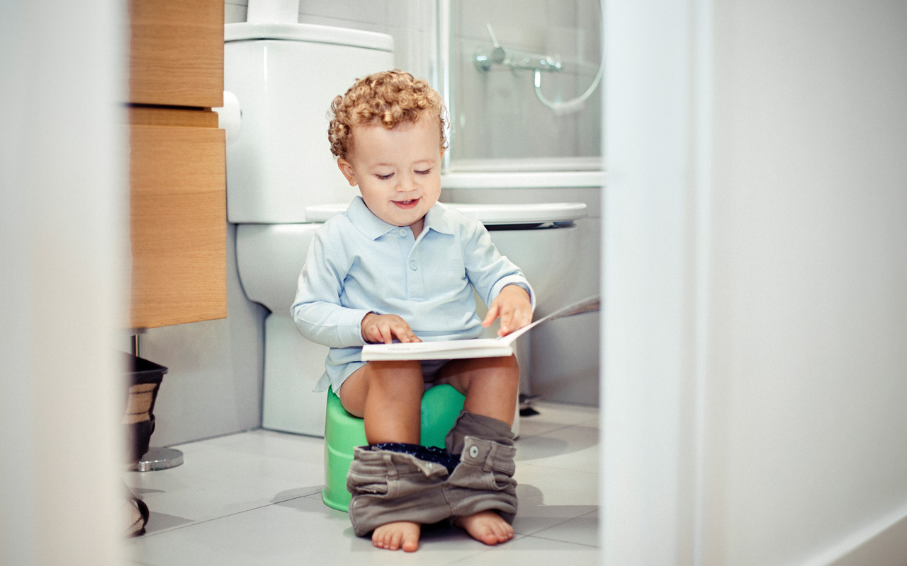 Potta-aiheinen kirja on yksi tapa tutustuttaa lapsi pottailun maailmaan.