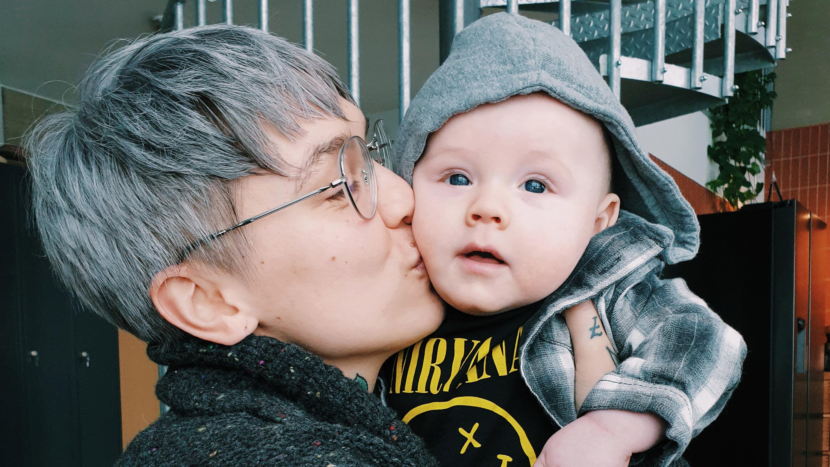 Natalia Salmelan vauva ja ainoa lapsi Benkku