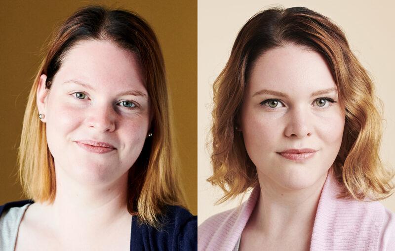 27-vuotias Jenni Lahtinen voitti Kaksplussan mallihakuäänestyksen. Kuvat ennen ja jälkeen stailauksen.